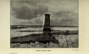 First Spurn Lighthouse later used for storing explosives.