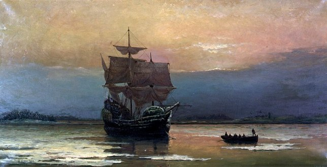 800px-Mayflower_in_Plymouth_Harbor,_by_William_Halsall